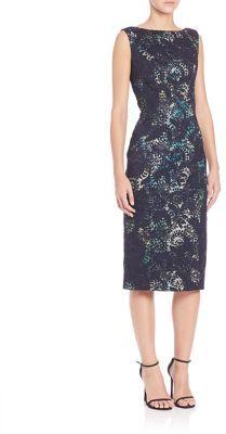Theia Lace Sheath Dress $650 thestylecure.com