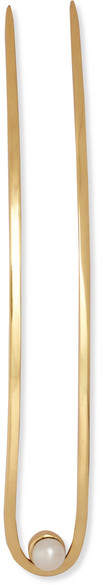 Cornelia Webb - Gold-plated Pearl Hair Slide