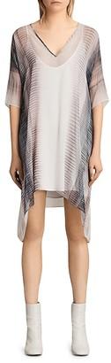 ALLSAINTS Ricia Dusk Silk Georgette Dress $340 thestylecure.com