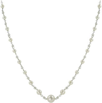 JCPenney FINE JEWELRY Cultured Freshwater Pearl & Sparkle Bead Necklace