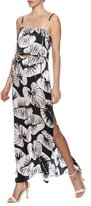 KENDALL + KYLIE Cutout Silk Maxi Dress