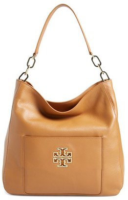 Tory Burch 'Britten' Leather Hobo $495 thestylecure.com