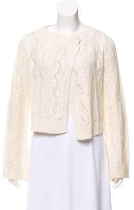Magaschoni Long Sleeve Knit Cardigan