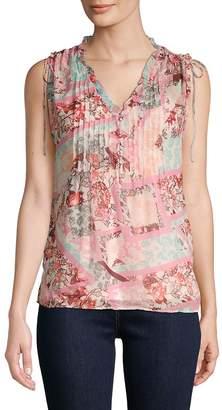 Daniel Rainn Women's Floral Short-Sleeve Top