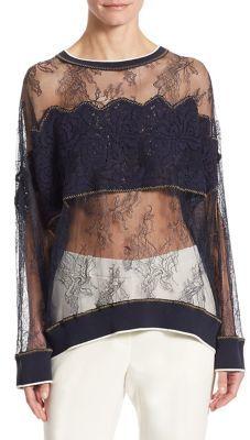 DKNY Floral Lace Shirt