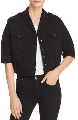 T Tahari Glorie Cropped Denim Jacket