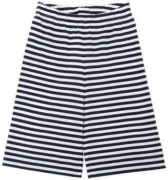 Il Gufo Striped Cotton Jersey Cropped Pants