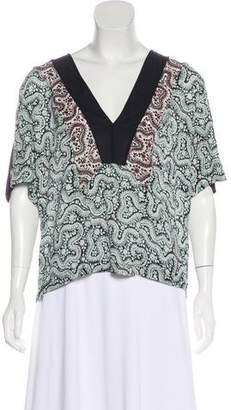 A.L.C. Silk Patterned Blouse w/ Tags