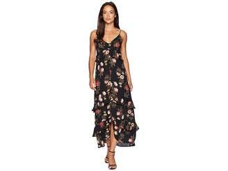 American Rose Kaytlyn Spaghetti Strap Maxi Dress
