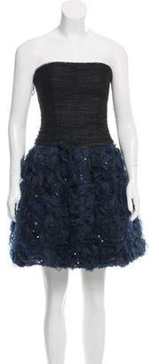 Oscar de la Renta Embellished Silk Dress