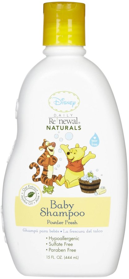 Green Baby New Windsor Disney Baby Daily Renewal Baby Shampoo - Powder Fresh - 15 oz