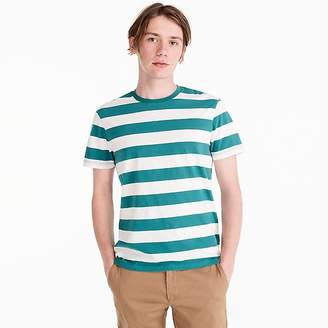 J.Crew Tall Mercantile Broken-in T-shirt in turquoise stripe