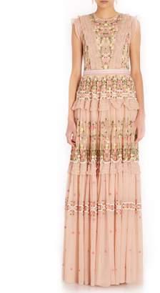 Needle & Thread Lattice Rose Gown in Pink