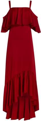 Jill Stuart Midi dress with satin ruffles