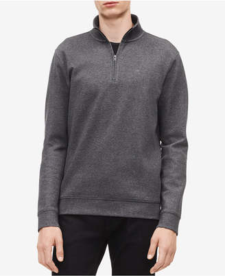 Calvin Klein Men's Classic Cotton Quarter-Zip Pullover Sweater