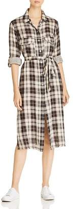 Sanctuary Boyfriend for Life Plaid Midi Shirt