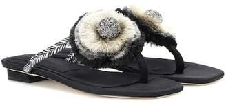 Sanayi 313 Zarina embroidered sandals