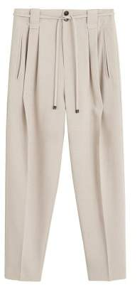 MANGO Pleated suit pants