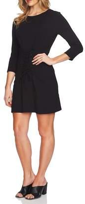 1 STATE 1.State Lace-Up Corset Knit Dress