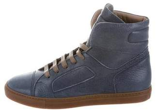 Brunello Cucinelli Leather High-Top Sneakers w/ Tags
