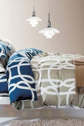 California Design Den by NMK Urbana King Sized 3-Piece Comforter Set - Taupe/Blue