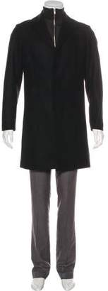Theory Wool Notch-Lapel Coat