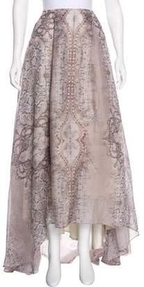 Lela Rose Printed High-Low Skirt