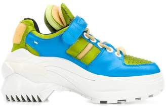 Maison Margiela blue and green sneakers