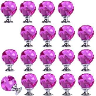 Yazer Creative 30mm Rose Shape Crystal Glass Knobs for Cabinet,Drawer Dresser Cupboard Kitchen Cabinet Pulls and Handles (, 18)