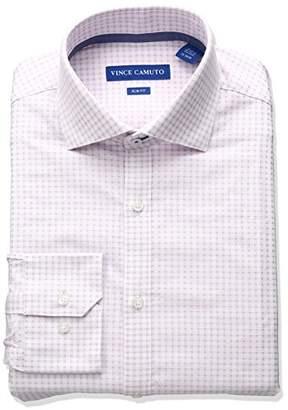 Vince Camuto Men's Slim Fit Spread Comfort Collar Dress Shirt