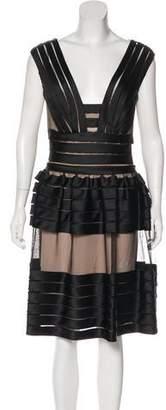 Temperley London Satin Pin-Tucked Dress