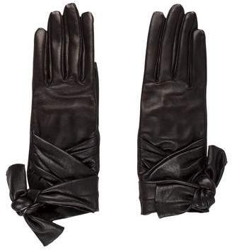 Chanel Leather Bow Gloves