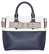 Burberry Women's Small Colorblock Leather Satchel