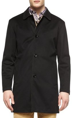 Peter Millar Modena Reversible Trenchcoat, Black $995 thestylecure.com