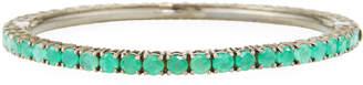 Bavna Emerald Black Silver Bangle Bracelet