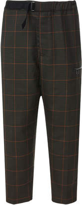 Oamc Belted Plaid Cropped Pants