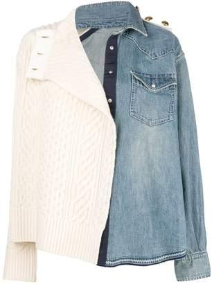 Sacai mix fabric jacket