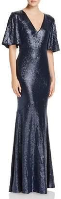 Rachel Zoe Heather Sequined Metallic Gown