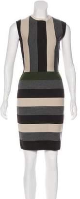 Fendi Striped Wool Dress