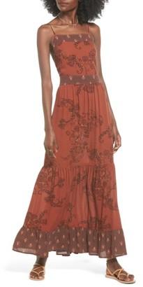 Women's Sun & Shadow Print Maxi Dress $59 thestylecure.com