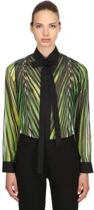 Elie Saab Printed Crepe Georgette Shirt