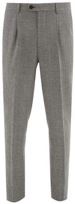 Brunello Cucinelli Prince Of Wales Check Trousers - Mens - Grey