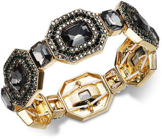INC International Concepts I.N.C. Gold-Tone Multi-Crystal Stretch Bracelet, Created for Macy's