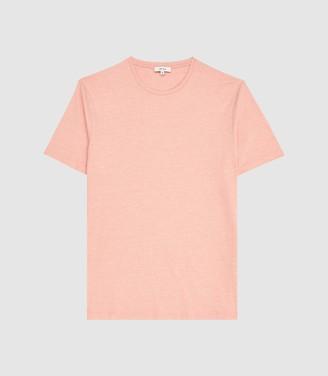 Reiss Dixon - Marl Crew Neck T-shirt in Orange