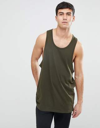 Brave Soul Longline Drop Arm Hole Tank