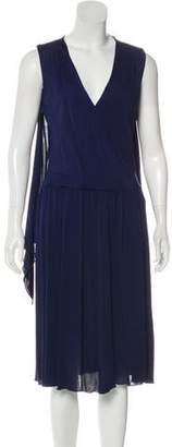 Galliano Pleated Midi Dress