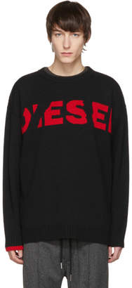Diesel Black Oversized K-LogoX Sweater