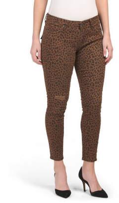 Donna Leopard Skinny Jeans