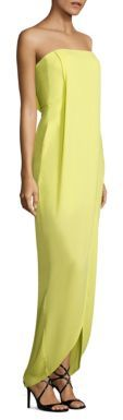 BCBGMAXAZRIA Georgette Draped Front Gown $298 thestylecure.com