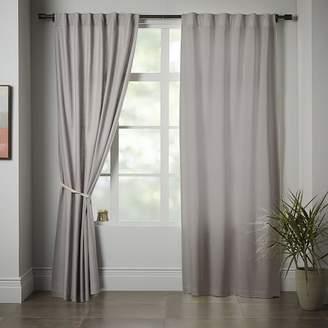 west elm Linen Cotton Curtain - Platinum